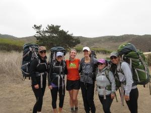 backpacking Pt Reyes, CA