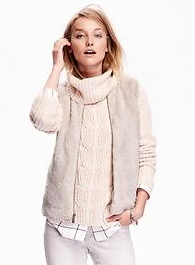Women's Faux-Fur Vest - Palomino